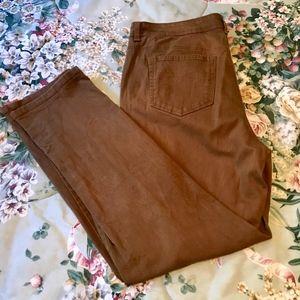 Style & Co rust-colored slim leg jeans 18W